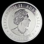 Australian Silver Kookaburra 2019 - 1 kg thumbnail