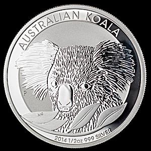 Australian Silver Koala 2014 - 1/2 oz