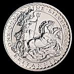 United Kingdom Silver Britannia  2009 - Circulated in Good Condition - 1 oz  thumbnail