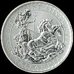 United Kingdom Silver Britannia 1999 - Circulated in Good Condition - 1 oz  thumbnail