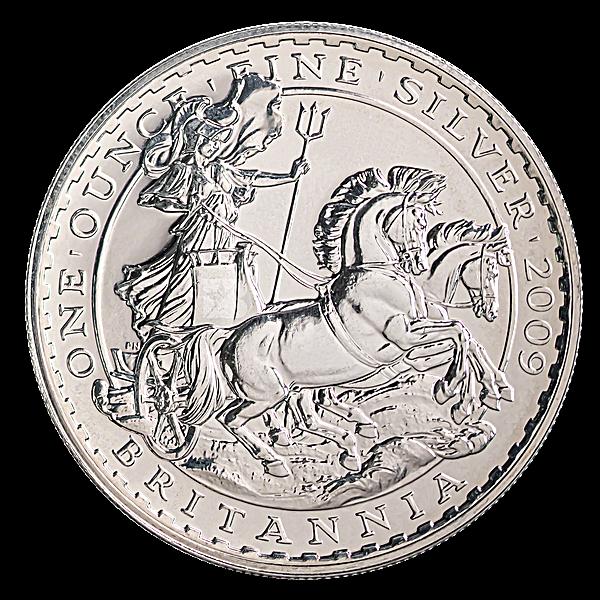 United Kingdom Silver Britannia  2009 - Circulated in Good Condition - 1 oz