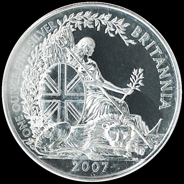 United Kingdom Silver Britannia 2007 - Circulated in Good Condition - 1 oz