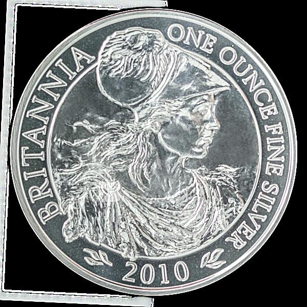 United Kingdom Silver Britannia  2010 - Circulated in Good Condition - 1 oz
