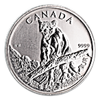 Canadian Wildlife Series 2012 - Cougar - Circulated - 1 oz thumbnail