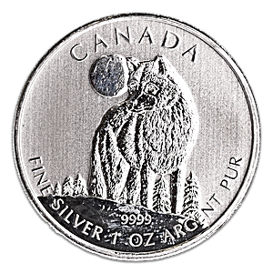 Canadian Wildlife Series 2011 - Timber Wolf - Circulated 1 oz