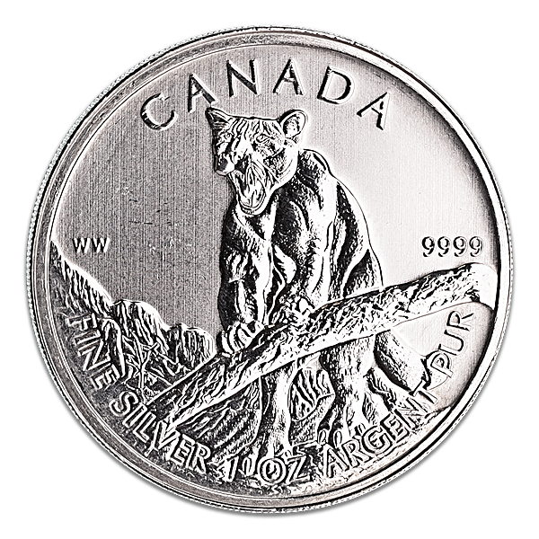 Canadian Wildlife Series 2012 - Cougar - Circulated - 1 oz