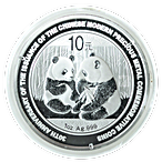 Chinese Silver Panda 2009 - 30th Anniversary of the issuance of the Chinese Modern Precious Metals Commemorative Coins - 1 oz thumbnail