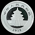 Chinese Silver Panda 2018 - 30 g thumbnail