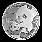Chinese Silver Panda 2019 - 30 g thumbnail