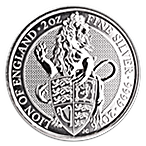 United Kingdom Silver Queen's Beast 2016 - The Lion - 2 oz thumbnail