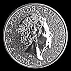 United Kingdom Silver Queen's Beast 2017 - Dragon - 2 oz thumbnail