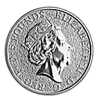 United Kingdom Silver Queen's Beast 2017 - Griffin - 2 oz thumbnail