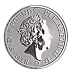 United Kingdom Silver Queen's Beast 2018 - Black Bull - 2 oz thumbnail
