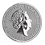 United Kingdom Silver Queen's Beast 2018 - Unicorn - 2 oz thumbnail