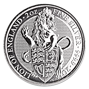 United Kingdom Silver Queen's Beast 2016 - The Lion - 2 oz