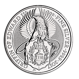 United Kingdom Silver Queen's Beast 2017 - Griffin - 2 oz
