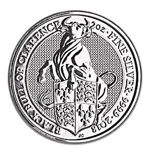 United Kingdom Silver Queen's Beast 2018 - Black Bull - 2 oz