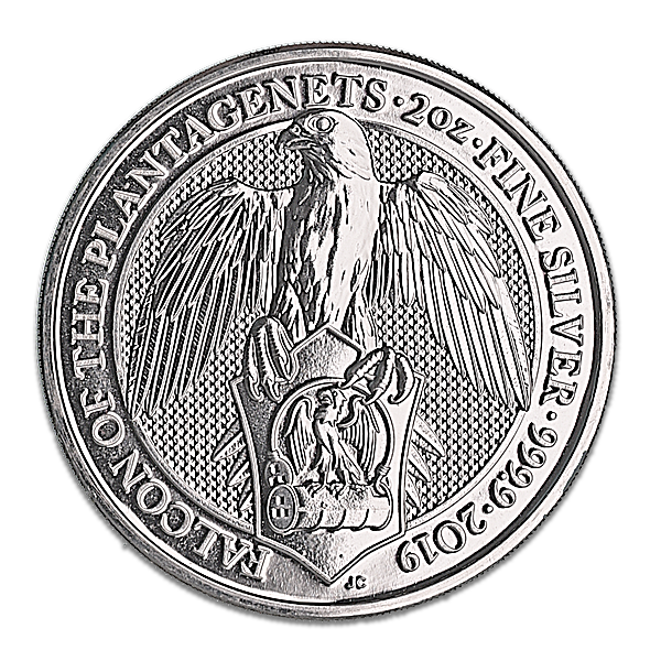 United Kingdom Silver Queen's Beast 2019 - The Falcon - 2 oz