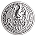 United Kingdom Silver Queen's Beast 2017 - Dragon - 2 oz thumbnail