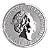 United Kingdom Silver Queen's Beast 2019 - The Falcon - 2 oz thumbnail