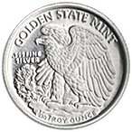 Walking Liberty Silver Round - Circulated in good condition - 1/10 oz thumbnail