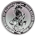 United Kingdom Silver Queen's Beast 2020 - The White Horse of Hanover - 2 oz thumbnail