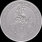 United Kingdom Silver Queen's Beast 2020 - The White Lion - 2 oz thumbnail