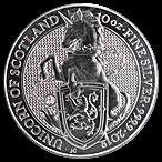 United Kingdom Silver Queen's Beast 2019 - Unicorn - 10 oz thumbnail
