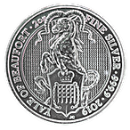 United Kingdom Silver Queen's Beast 2019 - The Yale - 2 oz thumbnail