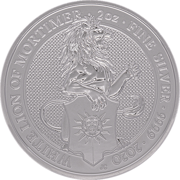 United Kingdom Silver Queen's Beast 2020 - The White Lion - 2 oz