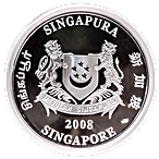 Singapore Mint Silver Lunar Series 2008 - Year of the Rat - 5 oz thumbnail