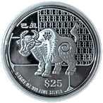 Singapore Mint Silver Lunar Series 2009 - Year of the Ox - 5 oz thumbnail