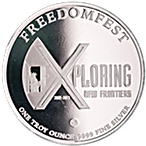 FreedomFest Silver Round 2017 - Low spread at 0.99% - 1 oz thumbnail