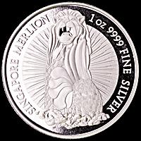 Singapore Silver Merlion Round