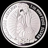 Singapore Silver Merlion Round - Low spread of 0.99% - 1 oz