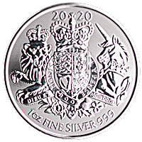 United Kingdom Silver Royal Arms 2020 - 1 oz