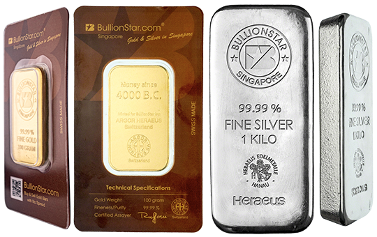 BullionStar Gold Bar